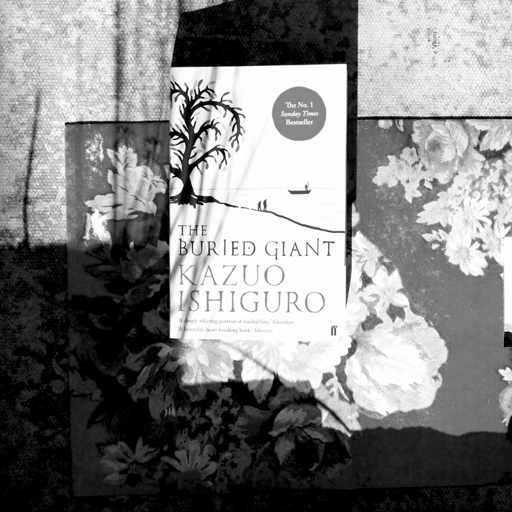 The Buried Giant by Kazuo Ishiguro. Photograph of The Buried Giant book cover. Thoughts, book review, opinion.
