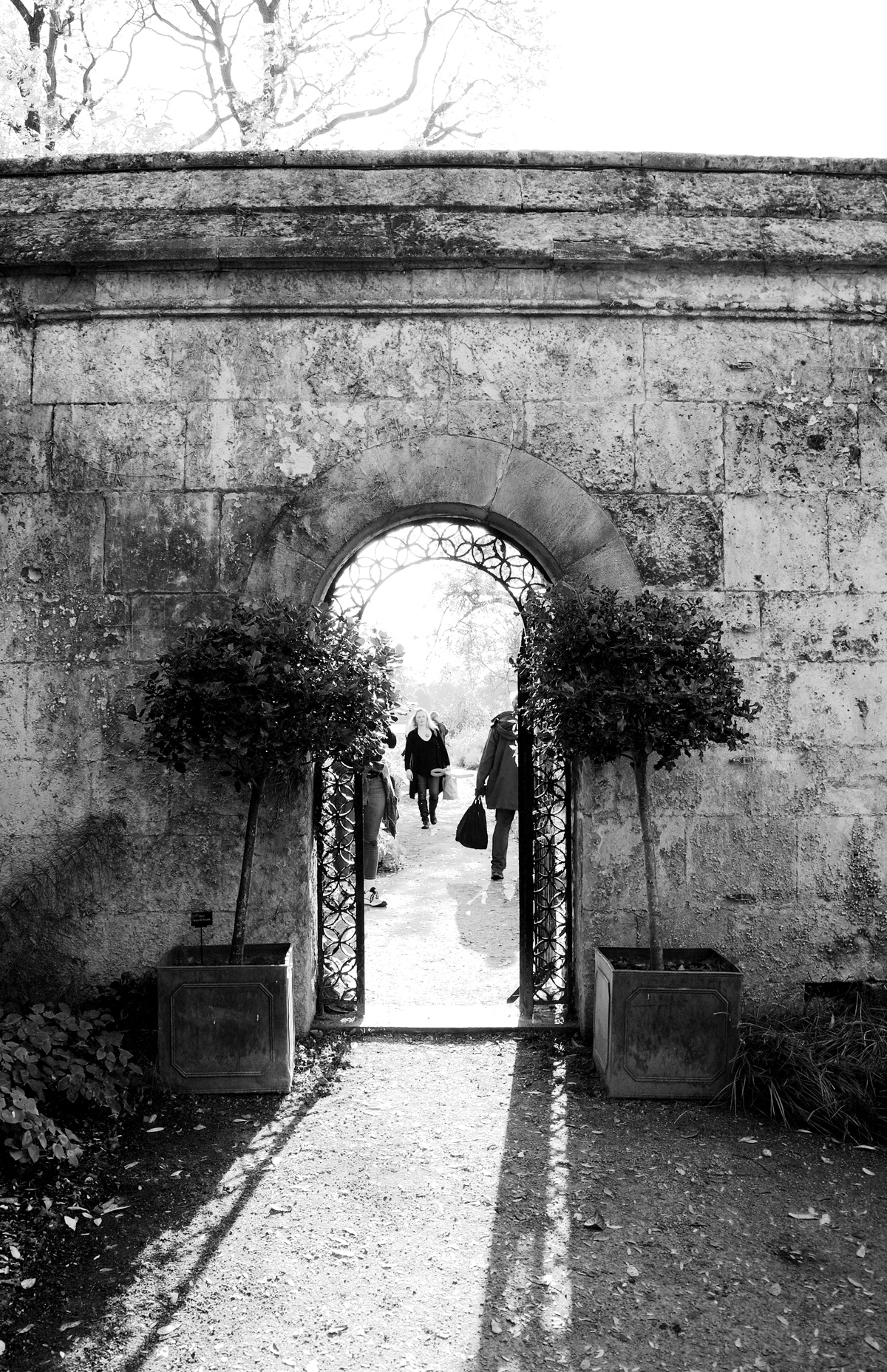 Gateway in the Oxford Botanic Garden.