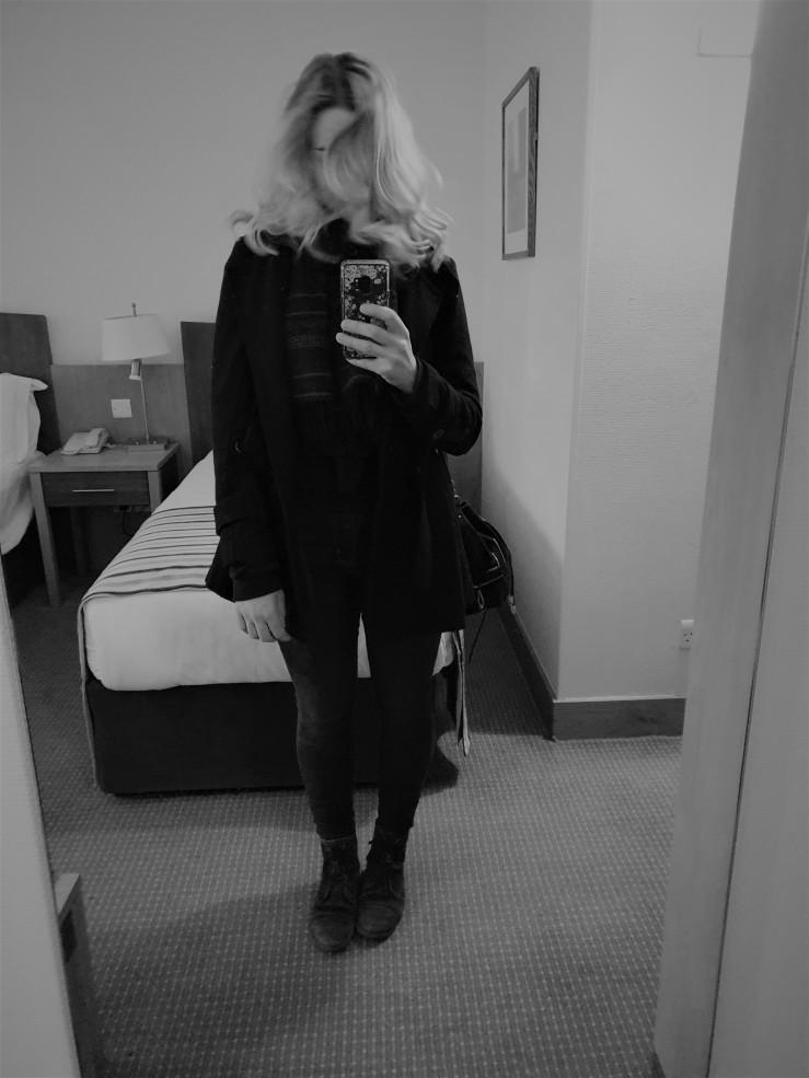 Hotel mirror selfie, Dublin, February 2019.